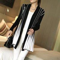 Wholesale Women Cardigan Stripes Print Long Sleeve Women s Shawl Knitting SlimThin Sweater Cardigan For Female