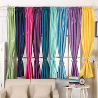 Wholesale 1Pc Valances Colors Floral Tulle Voile Door Window Curtain Drape Panel Sheer Curtains E006360 FASH