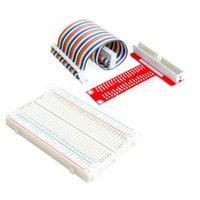 Wholesale Raspberry Pi Raspberry Pi Model B plus T cobbler expansion DIY kit GPIO cable breadboard GPIO T adapter plate