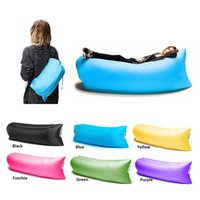 Wholesale Hangout Colors Fast Infaltable Sleeping Bag Seconds Quick Open Lazy sofa Sleeping Bed Folding Sofa Beach Sleep Bed