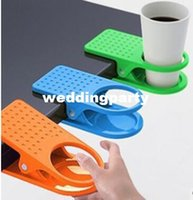 Wholesale Creative Drink Cup Coffee Mug Desk Lap Folder Table Holder Clip Home Office Table Cup Lap
