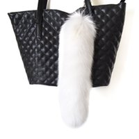 arctic fox tails - hadlook Fluffy Pure White Arctic Fox Tail Keychain Bag Charm Cosplay Accessories