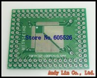 Wholesale 10pcs QFP FQFP LQFP TQFP32 TQFP44 TQFP64 TQFP80 TQFP100 MM MM IC adapter Socket Adapter plate PCB