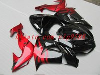 Wholesale 3 Gifts New bodywork ABS fairings Kits for Kawasaki Ninja ZX R ZX10R ZX R fairing set hot buy red black glossy