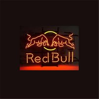 Wholesale NEON SIGN For RED BULL REDBULL ENERGY SODA DRINK Custom Store Display Beer Bar Pub Club Lights Signs Shop Decorate Real Glass Tube Bulbs