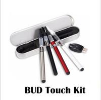 Bud Kit táctil CE3 O Pluma 285mAh Vaporizador cera pluma E cigarrillos 510 y seco hervir kits de vaporizador con cargador USB Caja de aluminio