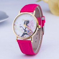 big colorful watches - 2016 fashion Fairy dial design leisure woman watch High quality women leather Watches Colorful big dial Wristwatch
