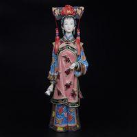antique porcelain doll - Antique Imitation Collectible Ceramic Statue Figurines Shiwan Dolls Marvel Figurines Porcelain Fashion Dolls Vintage Sculptures