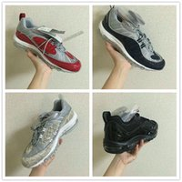 air x - Cheap Sale Supreme x Maxes NaVY SNAKESKIN Running Shoes Men s Airs Cushion Basketball Trainers Sneakers Size