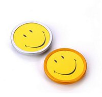 Wholesale 10 mm Magnetic exhibition store worker employee smile face chest badge