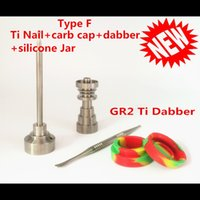 best crimping tool - best price in GR2 Domeless Titanium Nail Carb Cap E nail With Titanium Dabber And Silicone Jar of set