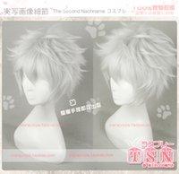 Wholesale Gintama Sakata Gintoki High quality silvery white short synthetic hair cosplay anime Wig