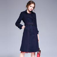 beautiful large breast - Europe and America winter new women dress wool coat beautiful large size wool woolen coat