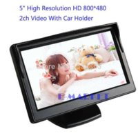 Wholesale 5 inch Color TFT LCD Mini Car Rear View Monitor Parking Rearview Monitor Screen For DVD VCD Reverse Camera SV003364