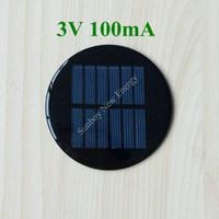 Wholesale 100pcs Epoxy Resin Round Mini Solar Cell V mA Diameter mm