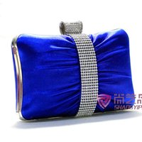 Wholesale Special offer new hand satin handbag bag fold capture high end banquet European style retro hand bag