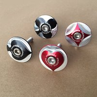 bicycle steerer - pc Fouriers CNC Bicycle Stem Top Cap With Screw Poker Logo For mm quot Steerer Tube