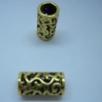 Wholesale Metal Filigree Dreadlock Bead Dreadlocks Hair Ring Bead mm Hole Hair Beads Alloy Spacer Beads