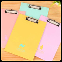 Wholesale 2 Pieces office supplies clipboards A4 notes folder folder write sub plate holder WordPad Stationery
