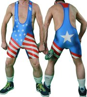 american flag singlet - American Flag School Team Wrestling Singlet Weight Lifting Gym Outfit Open Back Tight Bodywear Custom available