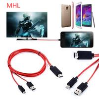 MHL Micro USB al adaptador del cable de HDMI 1080P HD TV para Samsung S3 4 5 NOTA 2 3 4 Envío libre de DHL