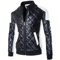 Wholesale Fall Brand Man Lether Jackets MC1599 Men Coats Jaqueta Couro Masculino Bomber Plus Size XL XL jaqueta de couro masculina