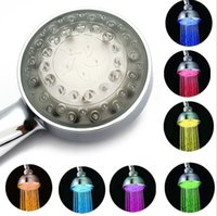 Wholesale RGB Color Changing LED Shower Head Sprinkler Water Automatic Control Romantic For Home Hotel Bathroom FY21