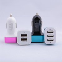 au gold - chargers Car charger Blue purple green red gold USB hot Cell Phones Accessories