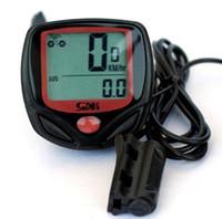 Wholesale Bike Speedometer bicycle Odometer Waterproof Bicycle Bike Cycle Wired LCD Digital Speedometer Odometer Green LED