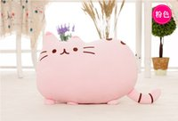 big cat toy - 2016 new stuffed plush toy pusheen cat girl kids Birthday gift Cute cat Pillow animal doll x30cm Big tail cat toy pink colours
