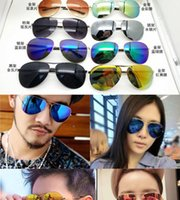 film couleur vive de 2016 hommes nouveaux lunettes de soleil en métal cadres de conduite miroir lunettes de soleil réfléchissantes partie extérieure des accessoires de mode