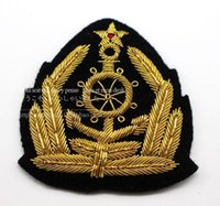 Silk Ribbon anchor ribbon embroidery - The Soviet Navy anchor badge embroidery metal CM