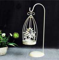 Wholesale Decorative Lantern Votive Candle Holder Hanging Lantern Vintage Wrought iron cage shaped leaves Candlestick
