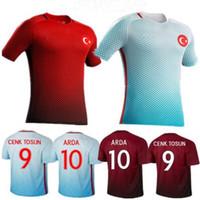 superior calidad de Tailandia Turquía camiseta de fútbol 16-17 temporada envío libre uniforme de la camisa del fútbol de los hombres al aire libre de la camisa de deportes del adulto Benwon 3A +++