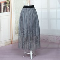 Wholesale Fashion Simple Women Skirts All Colors Adult flare skirt Tutu Tulle Lace Skirt A Line Free Size