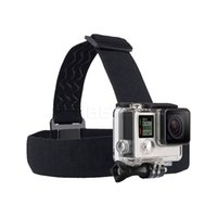 Wholesale Go pro Harness Adjustable Elastic Head Strap Mount Belt Head Mount strap with anti slide gule For Gopro hero Accessories