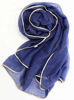 2016 El nuevo oro confina el mantón maxi llano de la bufanda para las bufandas y los mantones viscosa del algodón de las mujeres Forme el abrigo árabe FS6775 de las bufandas del hijab árabe