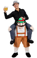 artificial limbs - Uncle riding on my back to carry people Beer Festival personalized artificial limb mascot costume costume exhibition Halloween