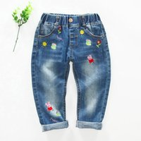 autumn color pages - 2016 kids clothing kids clothes new children s cartoon pig page embroidery washed denim trousers of the girls