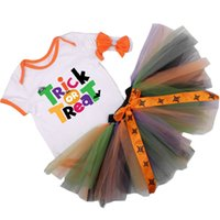 baby tricks - Trick or Treat Halloween Clothing Cotton Special Occasions set Romper TUTU Dress Headband Baby My st Halloween Outwear