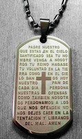 bible dogs - High Quality L Stainless Steel Jesus Christain Bible Script Prayer Worship Big Dog Tag Pendant Free quot Ball Chain Necklace