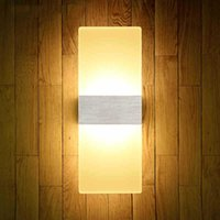 Wholesale Modern LED Wall Lamp Acrylic Lampshade Wall Sconce Bedside Wall Light Stairs Light fixtures Lustre Home Lighting arandela