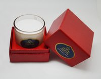 Wholesale 6PCS Capacity Oz Sandalwood fragance three wicks glass jar soy wax luxury scented candle with gift box packing DHL