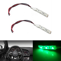 Cheap 4pcs Track Green 3-SMD 5050 LED Strip Lights Bulb Car Headlight DIY Foot Area Lamps