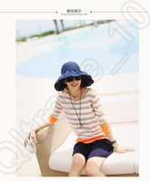Wholesale LJJM200 Summer Beach Hat Women Sun Hat Pure Flap Hat Fashion Casual Hat Ladies Visors Folding Hat Color