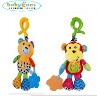 Wholesale 26 cm Baby Rattles Mobiles Toys Toddler Hanging Crib Stroller Animal Infant Plush Learning Products Kids Gift Styles