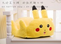 Wholesale Hot Poke Cute Cartoon Pikachu Dog Pet Bed Design Pet Cushion Cat Dog Puppy Hoodie Winter Warm Beds for Dogs Pet Christmas Gift Easy Cleaning