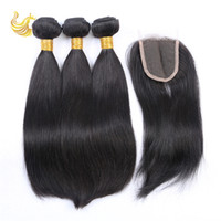 best weaves for natural hair - Straight Free Part Human Hair Weaves Best Virgin Remy Full Head Human Hair Extension Piece for Weddings Pieces ST