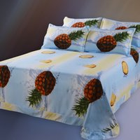 Wholesale Fruit Style d Bed Linen Luxury d Pineapple Bedding Set Duvet Cover Set d Quilt Cover Bed Sheet Pillowcase King Queen Size