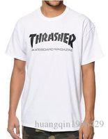rocking skateboard - 2016 summer thrasher t shirt Magazine Flame hip hop women men fashion skateboard t shirt rock homme t shirt streetwear